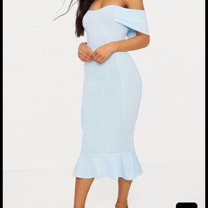 Pretty Little Thing Blue Midi Dress